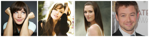 From left: Ksenia Solo, Angelina Jolie, Chyler Leigh, Cole Williams